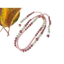Collar de perlas largo barroco anudado a mano de moda