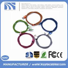 Neue geflochtene umkehrbare USB 3.1 Typ C auf USB2.0 Daten Sync und Ladekabel