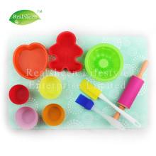 Conjunto de 11 peças de silicone infantil Bakeware