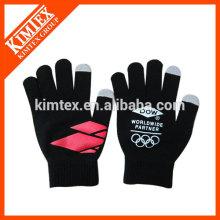Unisex acrylic knit magic custom touchscreen gloves