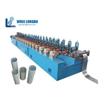 Octagonal tube series forming machine