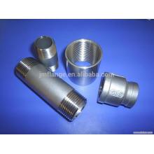 316L stainless steel nipple screw threaded BSPT