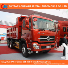 Heavy Duty 6*4 10 Wheel 151-250HP Middle Tipping Truck