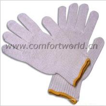 Punteó los guantes de algodón hecho punto