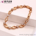 72869-Xuping joyería moda mujer chapado en oro pulsera con buena calidad