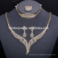 Precio de fábrica italiana nueva moda chapado en oro conjunto de joyas