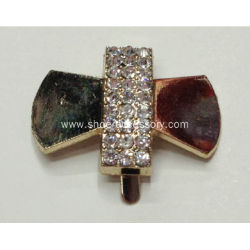 Bowknot Rhinestone Buckle for Ladies and Kids Shoes