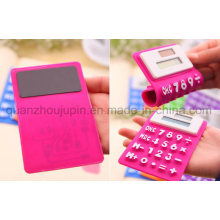 OEM Portable Mini Foldable Silicone Pocket Soft Solar Calculator