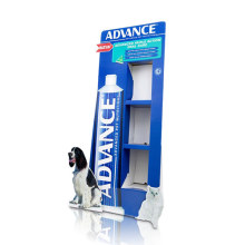 Publicidad de cartón Standee para pasta de dientes, PDQ Sidekick Display Stand