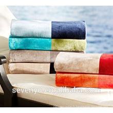 Serviette de plage Jacquard de couleur à rayures de luxe BT-089