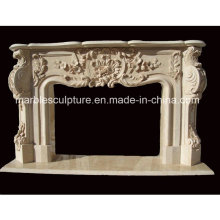 Natural Stone Marble Fireplace Mantel (SY-MF201)