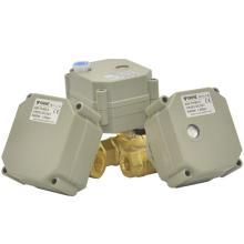 Vanne à bille électrique à actionneur en laiton 1/4 '' à 1/4 '' pour traitement de l'eau