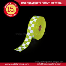 Fluorescent yellow oxford fabric reflective warning tape