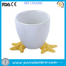 Cute Chicken Feet Ceramic Egg Stand