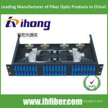 19 inch Rack mounted SC 48 Port fiber optic patch panel