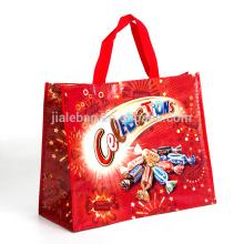custom luxury foldable eco recyled reusable shoppingbag laminated pp non woven rpet shop bag