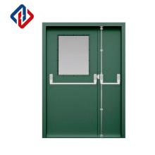 factory direct supply Customised size 120mins EN1634 double leaf anti-fire steel flush door