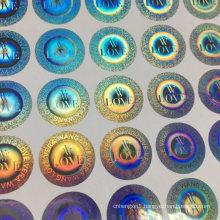 Custom Hologram Sticker Waterproof Laser Label Self Adhesive Vinyl Stickers