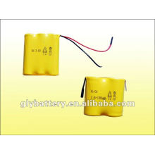 Batería recargable AA 3.6V /2.4V 1300 para luz de emergencia