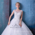 Elegant beaded embroidered a line wedding dresses with tail HA546