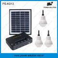 Kit solar de 3 piezas con bombillas 1W con función de cargador de teléfono (PS-K013)