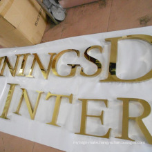 Backlit Stainless Steel Letter with Titanium Covering (BLC-13)