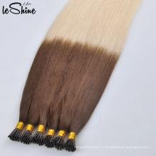 Réal cuticule de remy de prolongements de cheveux de kératine de Vierge humaine alignée aucun hangar