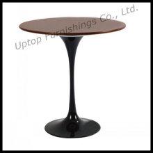Черное алюминиевое основание деревянной столешницей Тюльпан Сторона стол (СП-GT347)