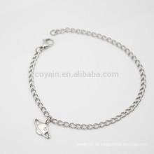 Colgante único de plata cadenas de tobillo Pulsera piedras joyas hechas en China