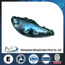 Peças de automóvel Auto luz da cabeça do carro Lâmpada de cristal preto W / RIM Peugeot 206