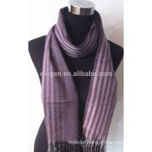 100% Cashmere Yarn Dyed Stripe Scarf