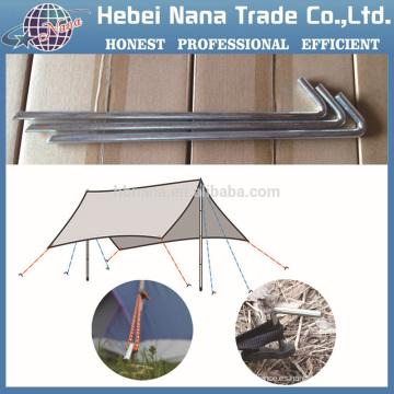 Piña de titanio diez, Camping Clavija de tienda en forma de peso ligero