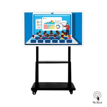 55 Inches Education Smart LCD Panel Dengan Stand