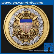 personalize moedas de metal, moeda de desafio customizada dos Chefes de Pessoal