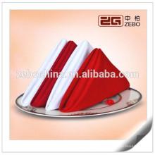 100% Poliéster Plain Linen boda o restaurante usado servilletas de tela