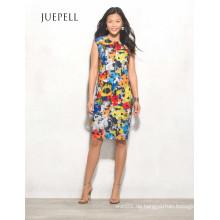 Floral High-Low Halter Frauen Kleid