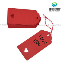 Custom Printing High Quality Promotion Paper Clothing Hang Tag