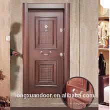 Fábrica Puerta blindada de diseño de panel personalizado, Puertas turcas de acero Puertas de oscilación externas, Puerta de acero popular de seguridad