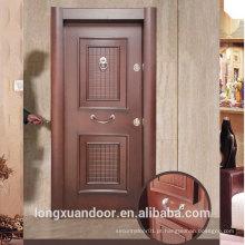Porta blindada de painel customizado de fábrica, portas turcas de aço para portas turcas, porta de segurança de aço popular