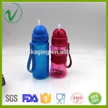 Cylindre vide transparente PCTG 400 ml de bouteilles d'eau réutilisables en plastique