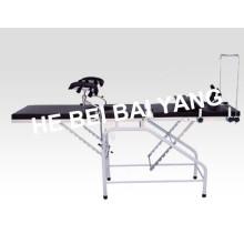 A-182 Cama de entrega em plástico para ginecologia e obstetrícia