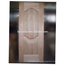 Chapa de madera decorativa puerta real moldeada puerta piel