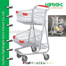2 tier grocery shopping cart