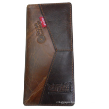 Popular brand long bifold wallet for businessmen