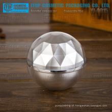YJ-OD15 15g exclusivo design bonito camadas dobro diamond plástico acrílico prata bola jar