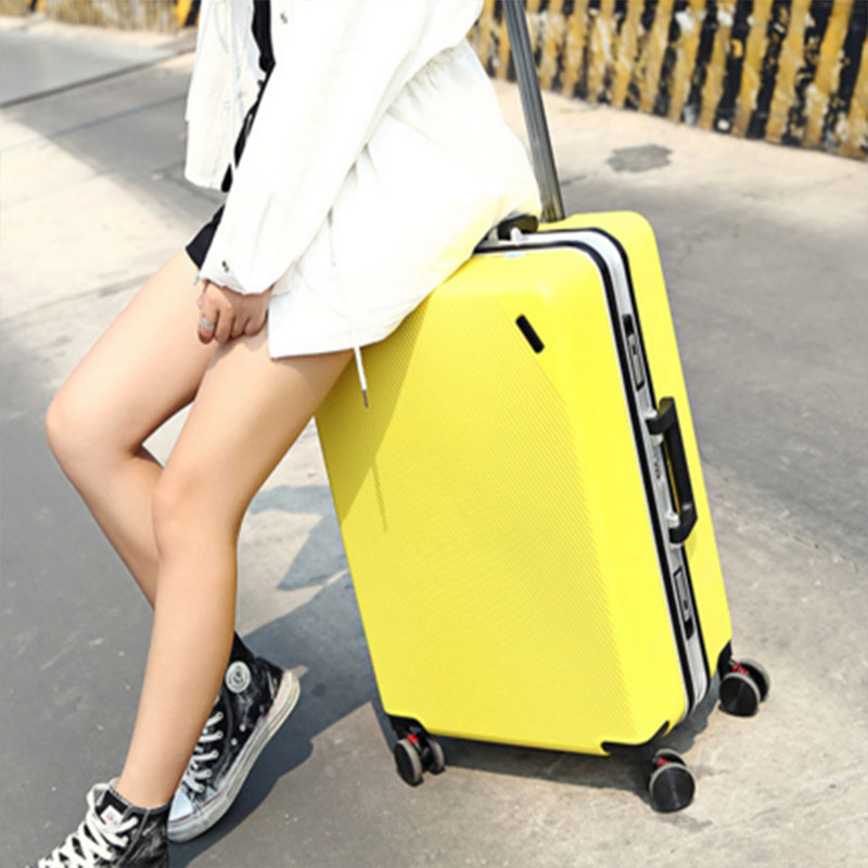 Girl trolley luggage