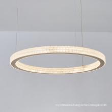 Modern gold aluminum hotel ring led chandelier lamp pendant light for living room