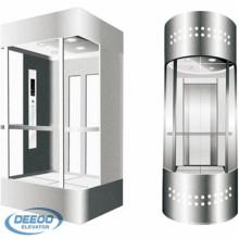 Villa Passenger Sightseeing Glass Semi redonda ascensor panorámico
