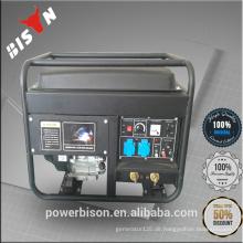 Bison China Zhejiang Qualitäts-Benzin-Maschine preiswertes bewegliches 6KW 6000W 6KVA Kohler elektrische Generatoren