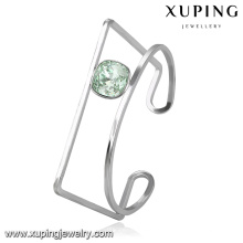 51669 xuping pulseira de aço inoxidável em forma especial com cristais da Swarovski